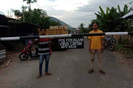 Gerbang Diportal, Masuk Desa Batu Bulan Wajib Cek Suhu Badan