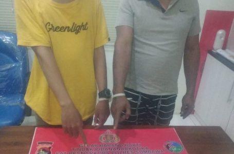 Hendak Transaksi Narkoba, Sopir Truk dan Pelajar Ini Ditangkap  di Simpang Boak