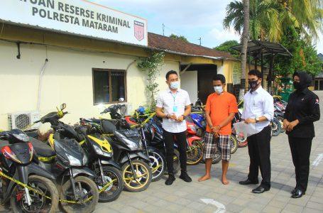 Diduga Hasil Curian, Polresta Mataram Amankan 18 Sepeda Motor