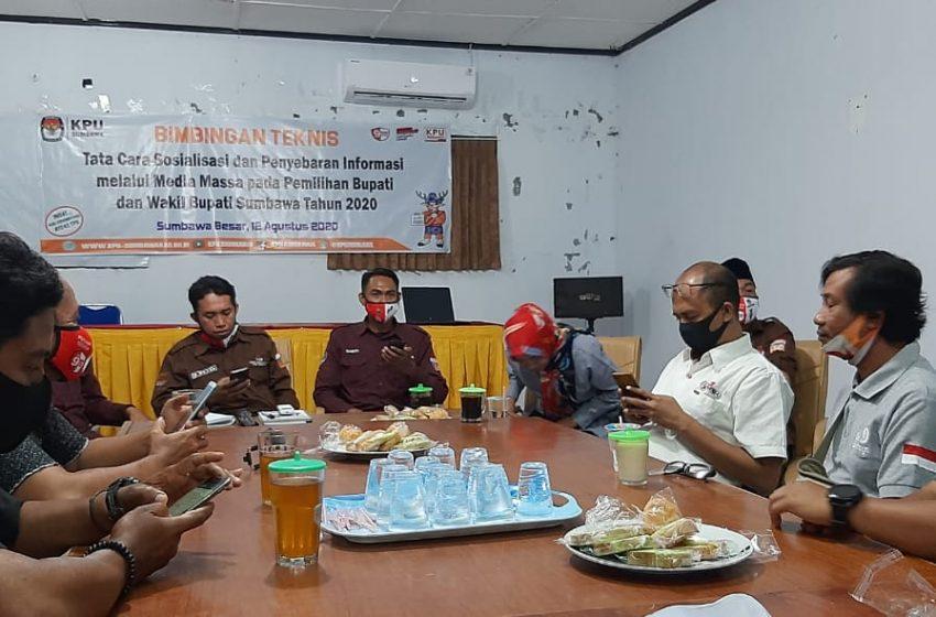 Wujudkan Pilkada Pandai, KPU Sumbawa Gandeng Media Massa