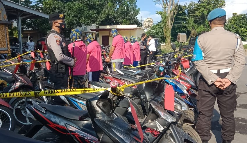 Ringkus Dua Pelaku Tiga Penadah, Polisi Amankan 62 Motor Curian