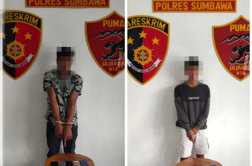 Tim Puma Polres Sumbawa Tangkap Pencuri HP dan Penadah