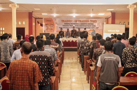 Persiapan Pemungutan Suara, Bawaslu Sumbawa Bekali Paswas 24 Kecamatan