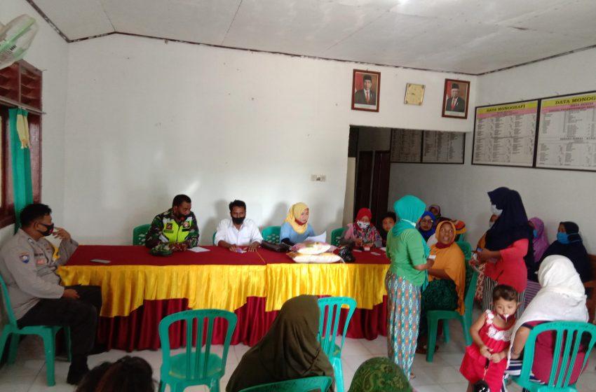 Jatah Sembako 110 KK di Marga Disalurkan