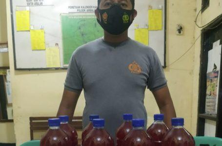 Polsek Ambalawi Sita 8 Botol Brem Merah