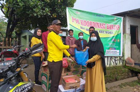 Kades Riamau Salurkan Bantuan untuk Korban Banjir di Monta