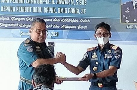 Amir Pangi Kepala KSOP Badas yang Baru, H. Anwar Digeser ke Baranusa NTT