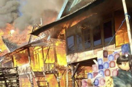 Kebakaran di Ambalawi, Sejumlah Rumah Hangus Terbakar