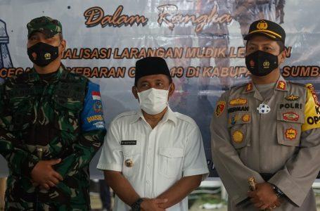 Cegah Kerumunan Saat Lebaran, Polres KSB Bangun Cek Poin di Sejumlah Lokasi
