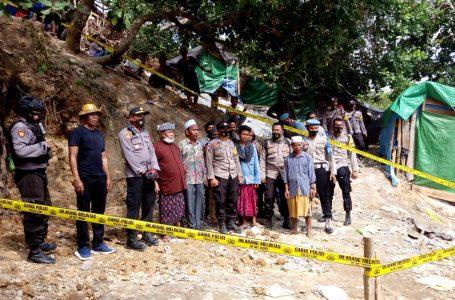 Aparat Tutup Tambang Emas Liar di Sekotong Lombok Barat