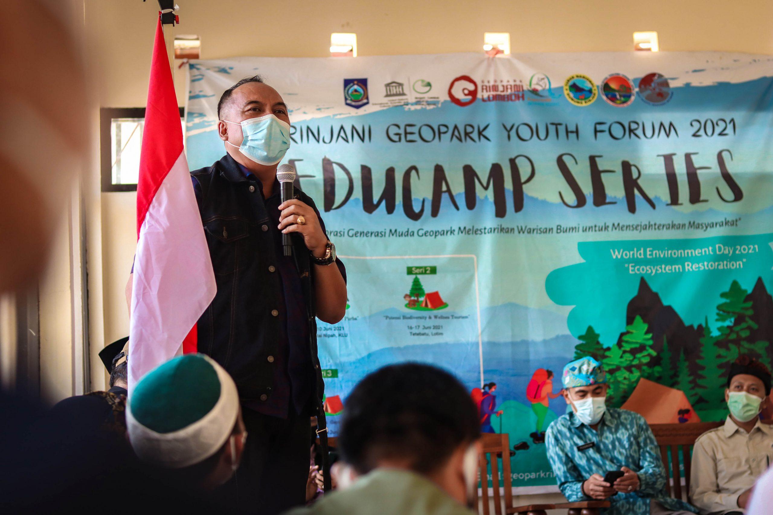 Pengembangan Geopark Rinjani Libatkan Anak-anak Muda