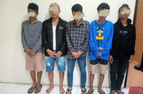 Diduga Pesta Sabu, Sekelompok Pemuda di Alas Barat Ditangkap