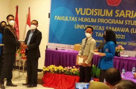 Fakultas Hukum UNSA Lahirkan Puluhan Sarjana Baru