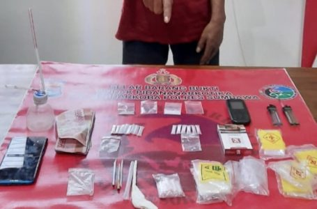 Polres Sumbawa Bekuk Pengedar Narkoba, 16 Poket Sabu Disita