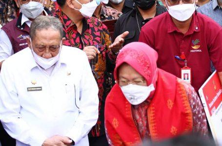 Kunjungan Mensos Risma di Sumbawa Diamankan 256 Personil